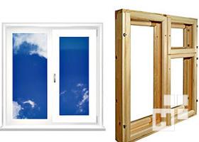различие деревянных окон от пластиковых