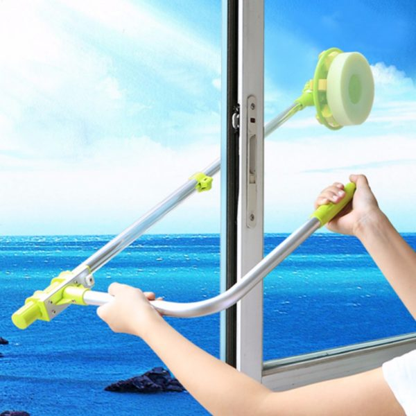 telescopic high rise window cleaning sponge glass cleaner brush mop for washing windows brush clean windows