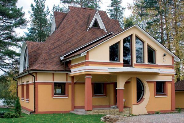 Остекление загородного дома металлопластиковыми окнами