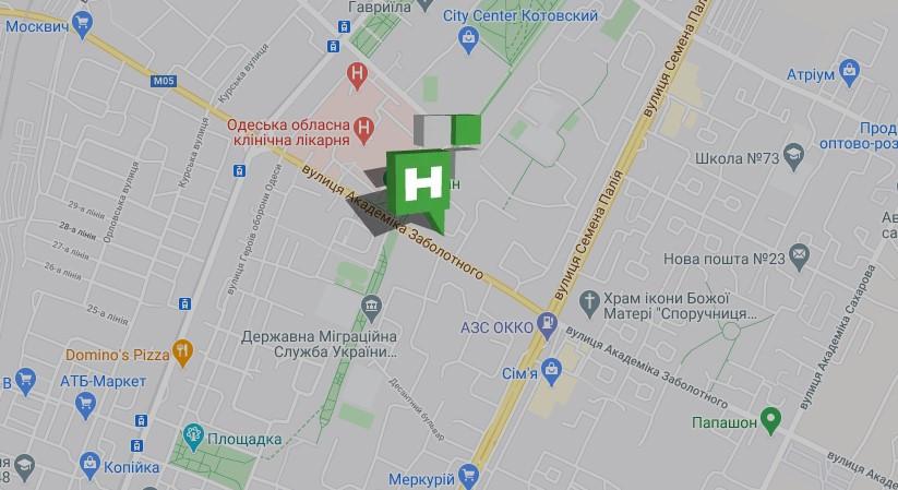 Салон НОВИКОН на карте Одессы