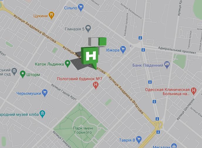 точка на карте салона НОВИКОН на Филатова, 21