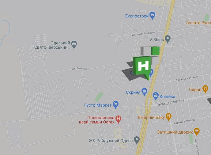 точка на карте салона НОВИКОН на рынке Селянка
