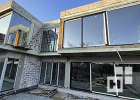 окна для частного дома в алюминии